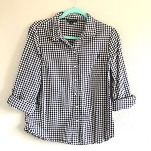 Tommy Hilfiger 3/4 sleeve button up gingham top